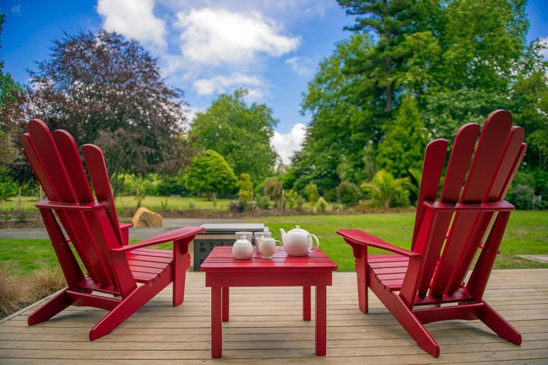 Flaxmill Holiday House Garden Views